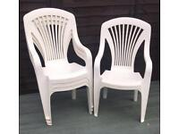 High Back Plastic Garden Stackable Chairs