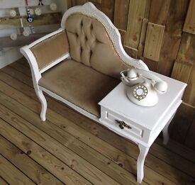Chaise Longue with side draw.