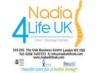 Back & Neck Pain - Nadia4lifeuk - Chiro Massage Therapy Clinic