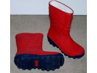 Fur lined Wellington Boots size 12