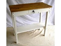 DINING / LIVING / SHABBY CHIC BESPOKE HAND MADE SOLID ANTIQUE PINE CREAM HALL/ CONSOLE TABLE
