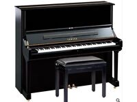 Pristine Yamaha U3 with stool 1981 RRP over £10k - hardly played black polished ebony S/N M3293408