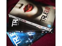 True Blood DVD box sets fulle seasons 1, 2 and 3 / vampires/occult