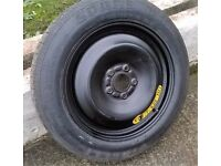 Unused skinny spare wheel for 2009 Ford C-Max 2.0Tdci