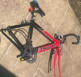 Quick sale Old school Falcon soccer across Bicycle frame for or swap CR26JP
