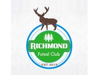 Richmond Futsal club looking for players