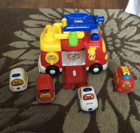 Vtech toot toot big fire engine set
