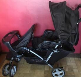 Graco stadium duo tandem pushchair buggy