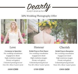 Dearly Photography: Spectacular 50% Discount on all Wedding Photography