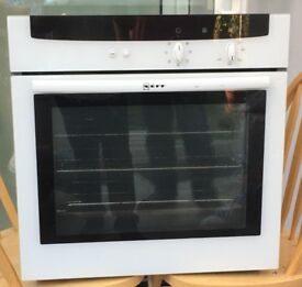 Neff fan assisted Oven and a Stainless steel Gas hob