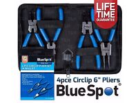 "NEW - 4 PCE 6"" Circlip Pliers Internal External Bent Nose Straight Tip Snap Ring"