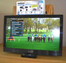 "Sony Bravia 22"" Edge LED LCD Internet TV & new wall bracket"