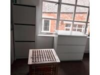 Ikea chest of 3 drawers + shoe cabinet + side storage table