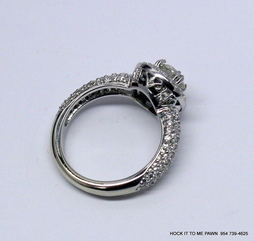 Duet Halo Diamond Engagement Ring in 14k White Gold (1.75 ct. tw.) GIA 7