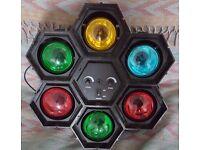 SoundLab 6 Way Pod Light Disco Party Christmas Flashing DJ Lights Sound To Light & Speed Control