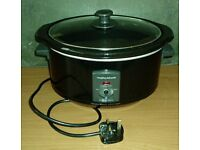 MORPHY RICHARDS 3.5L SLOW COOKER Fully Working but Control Knob Missing