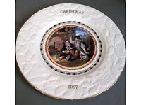 Coalport Collectors Plate CHRISTMAS 1987 - GOD BLESS EVERY ONE