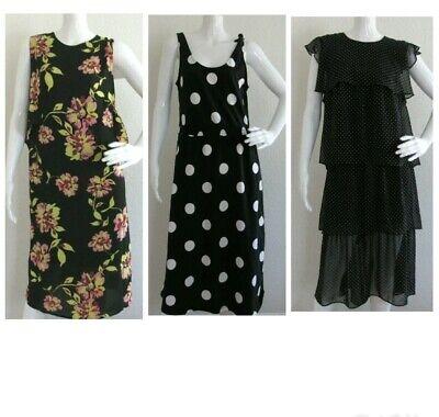 Who What Wear M Dress Floral Polka Dot Spring Summer Womens Sz S Med Sleeveless Dot Spring Dress