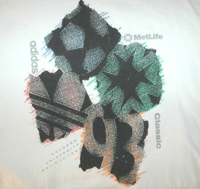 Vtg Adidas Metlife Classic College Soccer T Shirt Rutgers University Logo