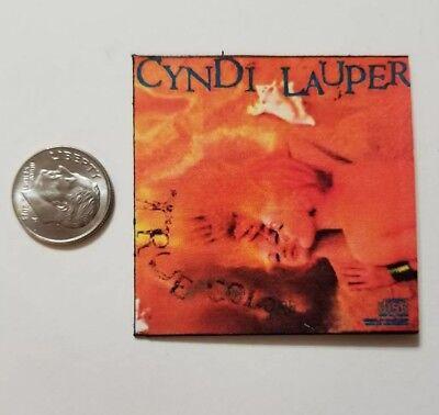 Miniature record album Barbie Gi Joe 1/6    Playscale Cyndi Lauper True Colors