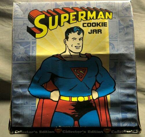 DC Comics Collectors Edition Superman Cookie Jar #2601 - Clay Art - New In Box