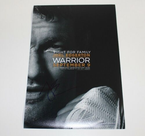 ACTOR JOEL EDGERTON SIGNED 'WARRIOR' 12x18 INCH MOVIE POSTER w/COA