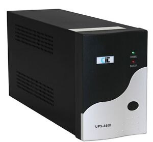 CiT UPS-850B 850VA 3-Plug UK Black/Silver UPS Uninterruptable Power Supply