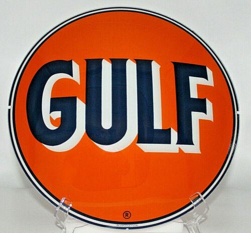 "GULF 13.5"" GLASS FACE for GAS PUMP GLOBE"