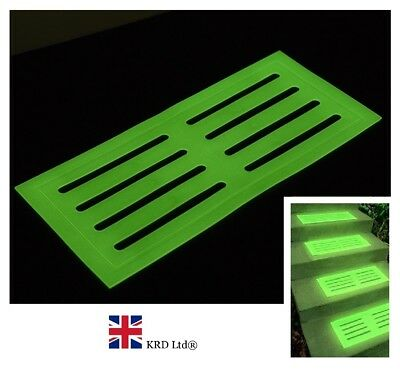 GLOW IN THE DARK STAIR MAT High Visibility Step Tread Safety Mats 39 x 18 cm UK ()