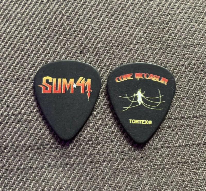 SUM 41 Jason McCaslin 2019 Order In Decline Tour Issue Guitar Pick Plectrum