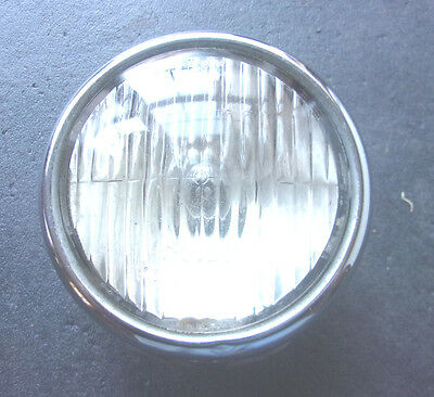"Vintage Guide 4 5/8"" Fog Light 2004A 5933400 Clear Glass Lens   -  MS410"