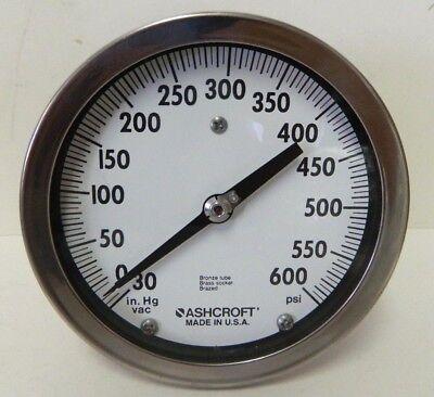 Ashcroft Pressure Gauge 30 In Hg Vac 0-600 Psi