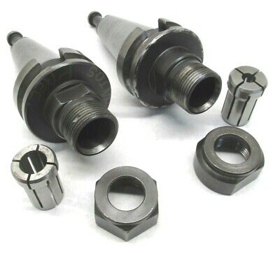 2 Richmill Da180 Collet Chucks W Bt40 Shanks Collets