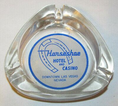 ~RARE~ Vintage Horseshoe Hotel and Casino Glass Ashtray Las Vegas Nevada NV