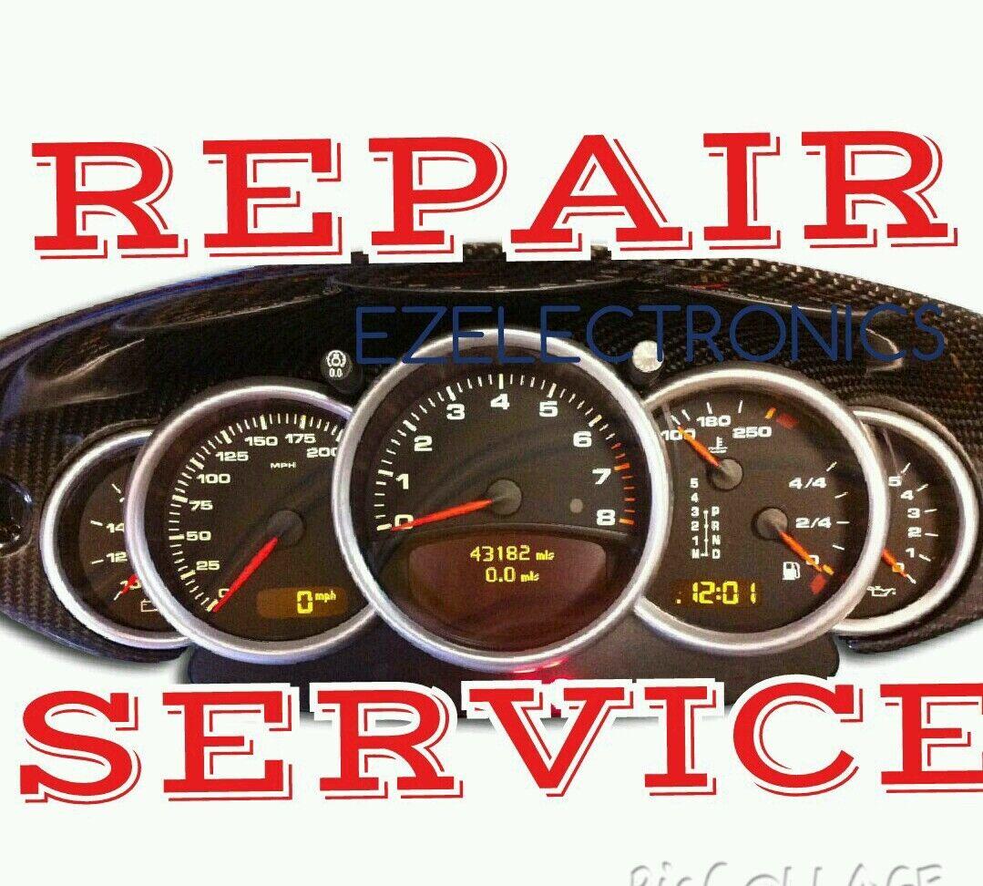 1997 to 2004 Porsche 911, 996 Instrument Cluster REPAIR SERVICE, display gauges