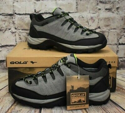 Mens Gola Aberdare Low Grey Suede Lace Up Trainers Size UK 7...