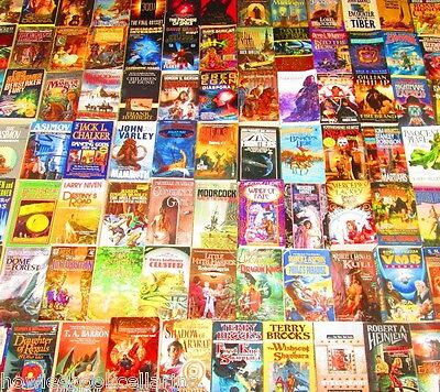 Science Fiction/Fantasy Paperback Book Lot INSTANT COLLECTION   Free Shipping
