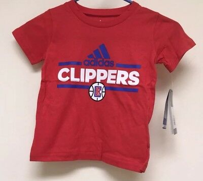 Los Angeles LA Clippers NBA adidas Short Sleeve Youth Boys 4T NEW - Clippers Nba