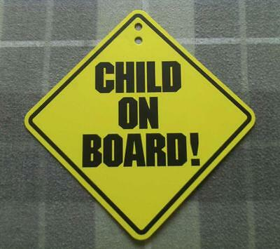 CHILD ON BOARD! CAR WINDOW WARNING PLASTIC DECAL SIGN EMBLEM LOGO- BABY ON BOARD