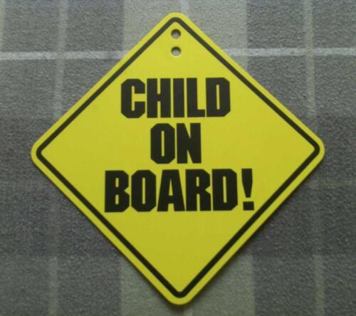 CHILD ON BOARD! CAR WINDOW WARNING PLASTIC DECAL SIGN EMBLEM LOGO- BABY ON BOARD