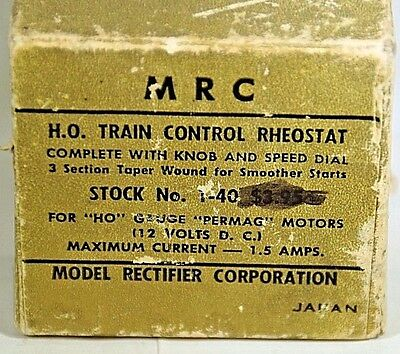 MRC Train Control Rheostat w/Knob & Speed Dial