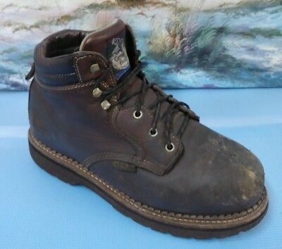 Georgia Boot Mens Brown Safety Toe Boots Shoes G4057 size 11M Georgia Mens Safety Shoes