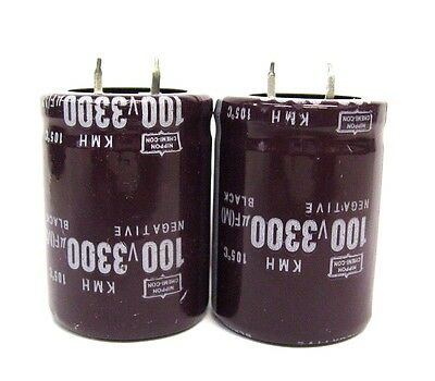 3300uf 100v 2x Electrolytic Capacitors 100v 3300uf Volume 30x40 Mm