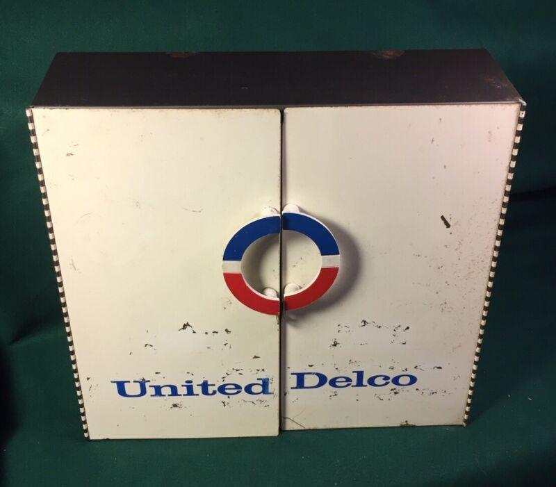 Vintage United Delco Service Parts Metal Cabinet