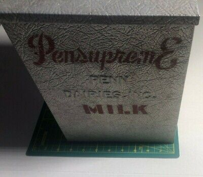 VINTAGE GALVANIZED PENN DAIRIES PENSUPREME Dairy Milk Advertising Porch Milk Box