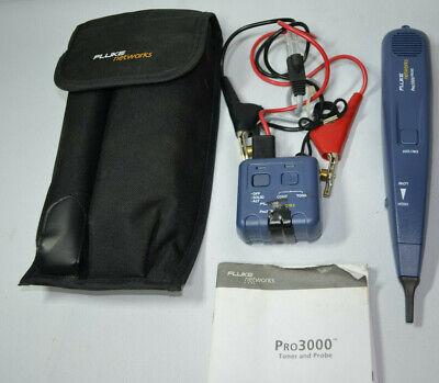 Fluke Networks Pro3000 Toner And Probe Tested Working
