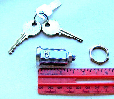 One  New Medeco Cam Lock 72s - With 2 Keys  High Security