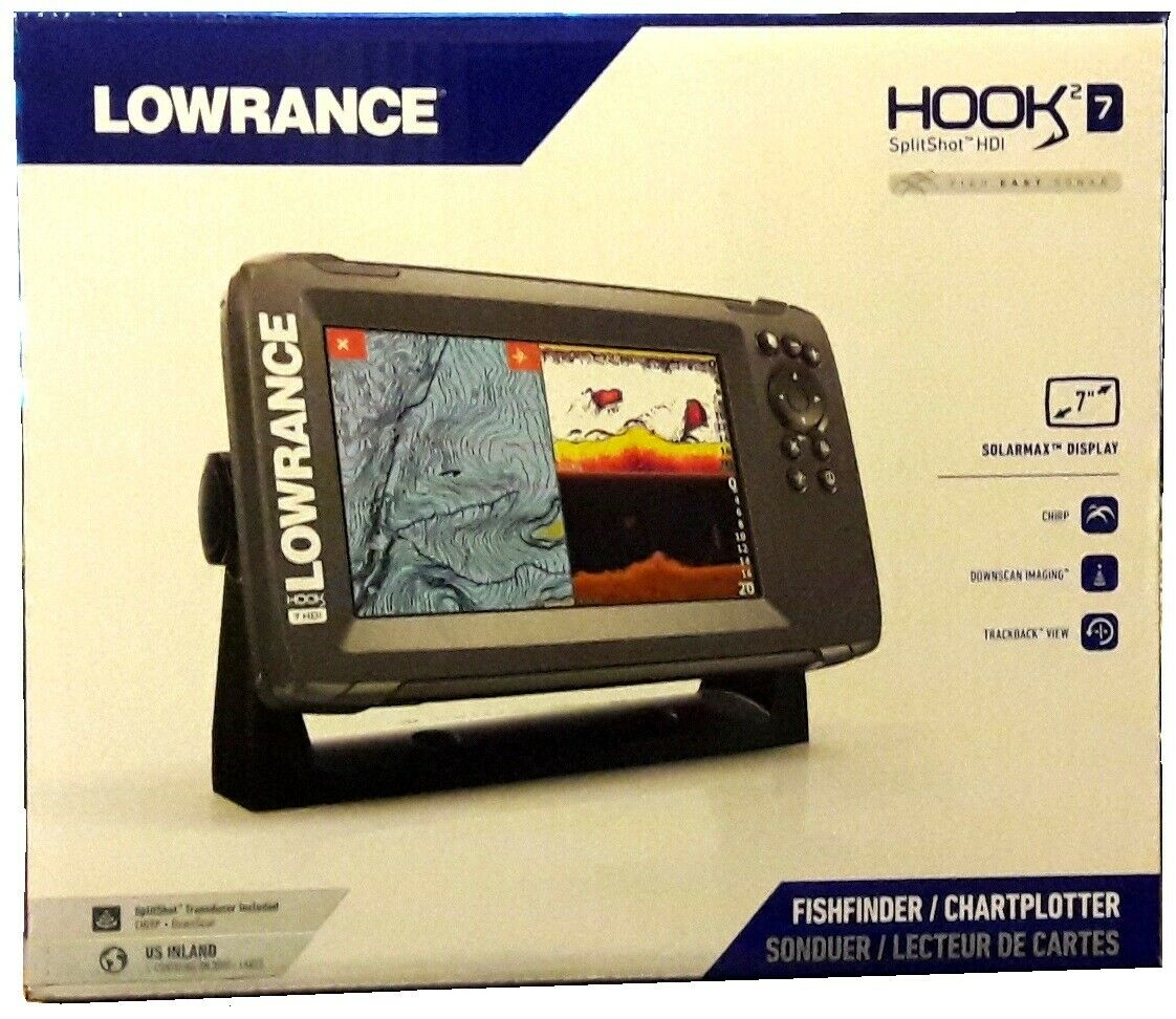 "Expedited Delivery! Lowrance HOOK2-7 7"" Chartplotter/Fishfin"