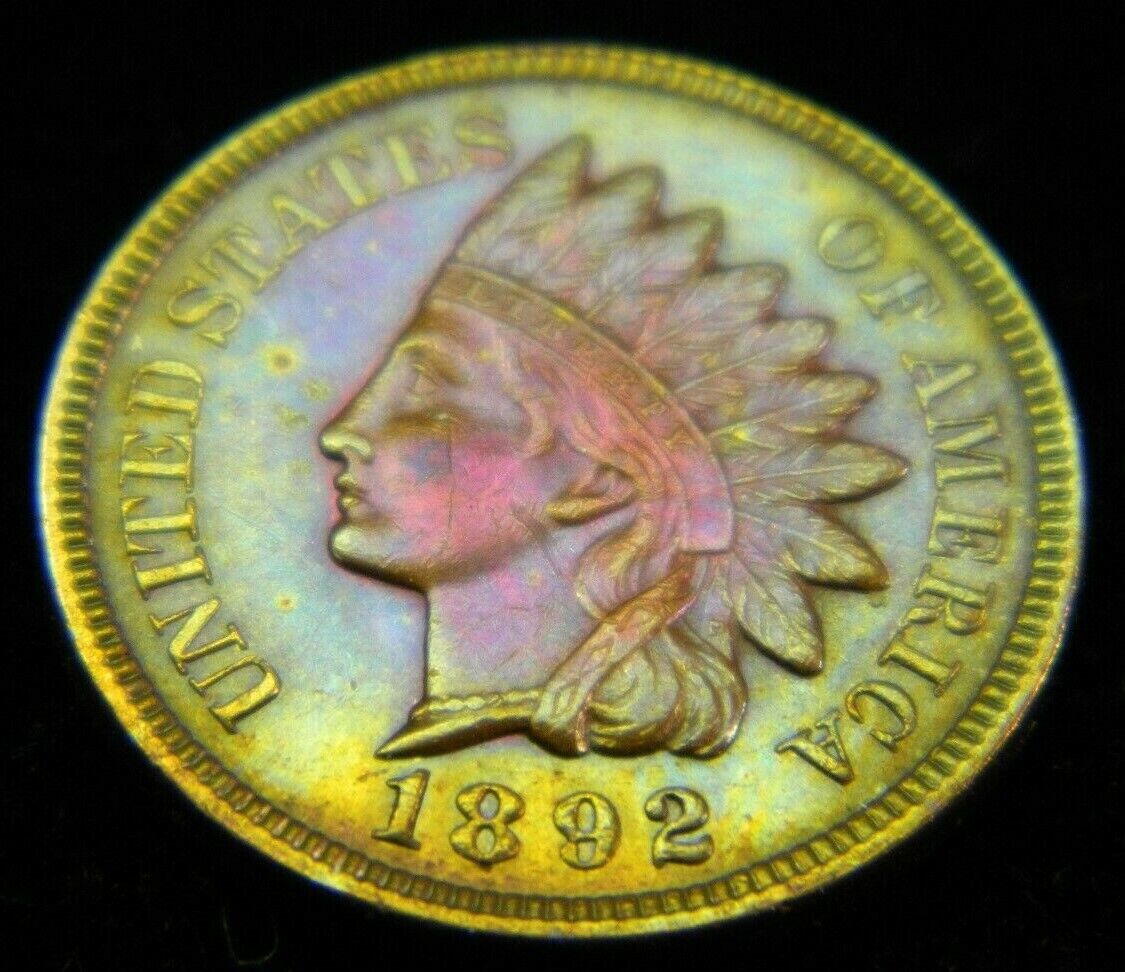 1892 Indian Head Cent  - $41.39