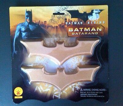 Neu Batman Batarangs Gürtel Gold Fasching Kostüm Zubehör Karneval Rubies (Batman Gürtel Kostüm)